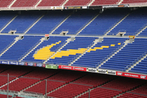 Camp Nou Experience : view from the stands