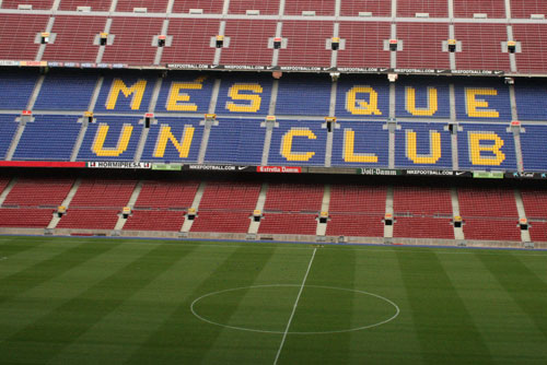 Camp Nou Experience : view from the stands - mes que un club