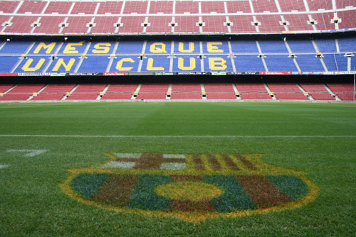Camp Nou Experience : the Camp Nou with fc barcelona logo