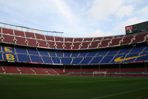 Camp Nou Experience : view of the pitch from the stands