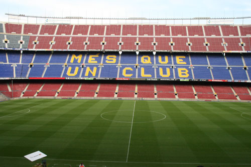 Camp Nou Experience : view of stadium with lateral stands