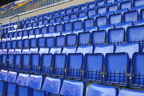 Camp Nou Experience : blue seats at the camp nou