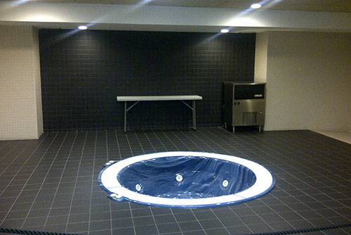 Camp Nou Experience : jacuzi in FC Barcelon's Locker room