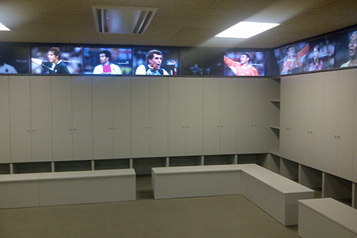 Camp Nou Experience : Locker room at the Camp Nou