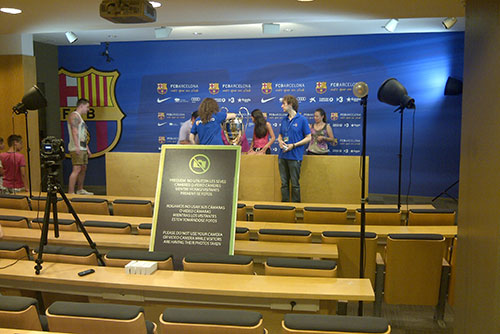 Camp Nou Experience : The press conference area