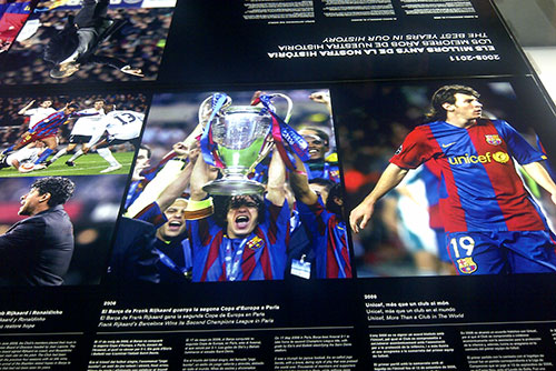 Camp Nou Experience : articles and pictures at the museum