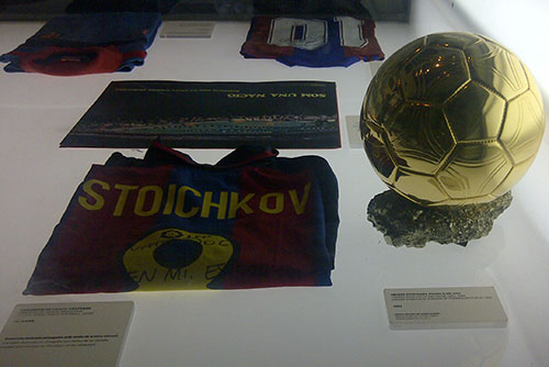 Camp Nou Experience : Hristo Stoichkov's jersey and the Ballon d'Or