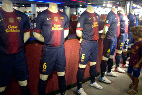 Camp Nou Experience : FC Barcelona 2012-2013 official home kits at the shop