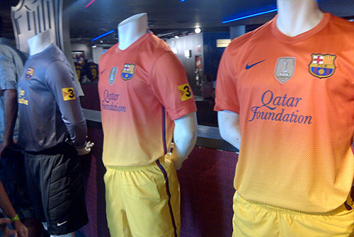 Camp Nou Experience : FC Barcelona 2012-2013 official away kits at the shop