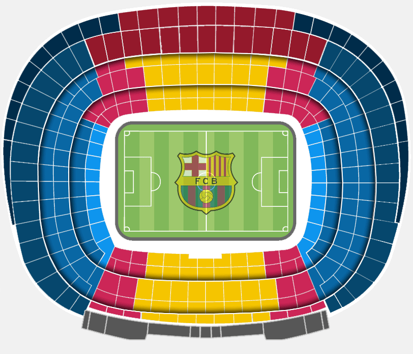 the official seating categories at the camp nou - fc barcelona
