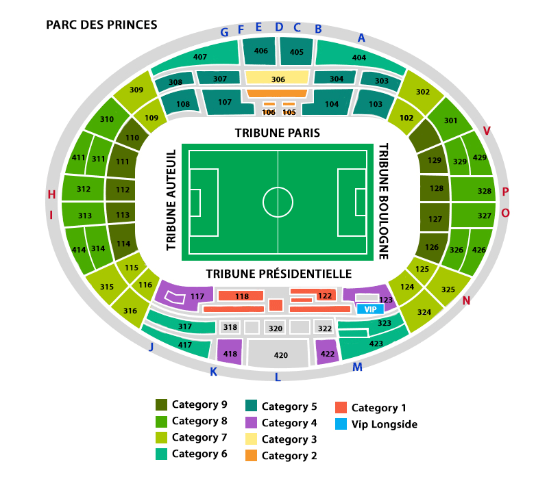 Paris saint germain fc barcelona tickets on february 14 - Parc des princes porte de saint cloud ...